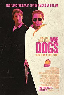 "An artwork poster of the film which parodies ""Scarface"" and shows the two main actors with the title slogan and the credits."