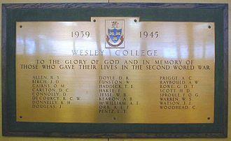 Wesley College (Dublin) - Image: Wesleyww 2