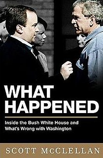 <i>What Happened</i> (McClellan book) book by Scott McClellan