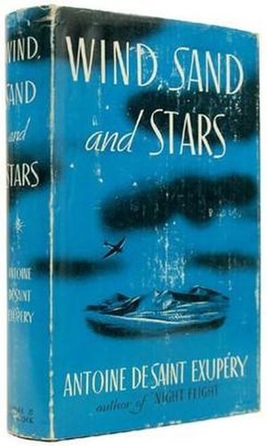 Wind, Sand and Stars - First U.S. edition book jacket (publisher: Reynal & Hitchcock)