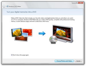 Windows DVD Maker - Image: Windows 7 DVD Maker