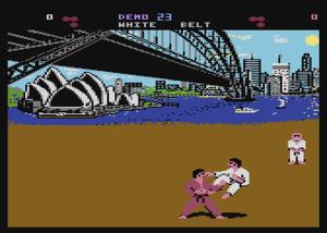 International Karate - Atari 800 version of the game
