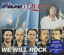 Five + Queen - We Will Rock You (studio acapella)