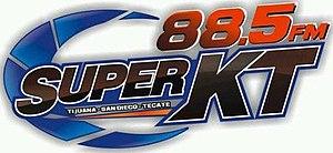 XHKT-FM - Image: XHKT La Super KT88.5 logo