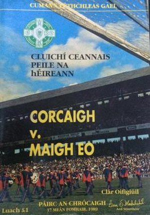 1989 All-Ireland Senior Football Championship Final - Image: 1989 All Ireland Senior Football Championship Final prog