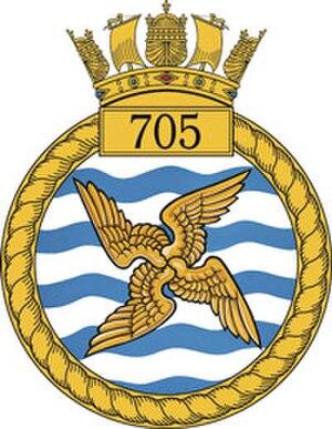 705 Naval Air Squadron - 705 NAS badge