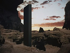 Monolith (Space Odyssey) - The monolith as it appears in 2001: A Space Odyssey