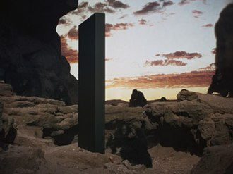 2001: A Space Odyssey (film) - Multiple interpretations of the meaning of the Monolith have been examined in the critical reception of the film