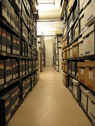 GLBT Historical Society - Section of the archival stacks at the GLBT Historical Society (Aug. 8, 2010).