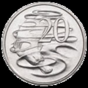 Australian twenty-cent coin - Image: Australian 20c Coin