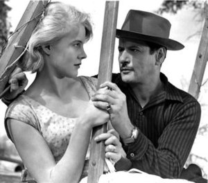 Eli Wallach - Wallach and Carroll Baker in the swing scene from Baby Doll