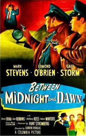 Between Midnight and Dawn - Theatrical release poster