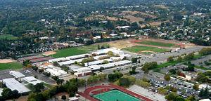 Mount Diablo Unified School District - Aerial view of College Park High School