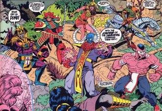 Cadre (comics) - Cadre of the Immortal, artist Chuck Wojtkiewicz