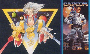 Captain Commando - Earlier depictions of Captain Commando from the rear packaging of Capcom's NES games. The rendition on the left was featured in games released between 1986 and 1987, while the rendition on the right are from games released in 1989.