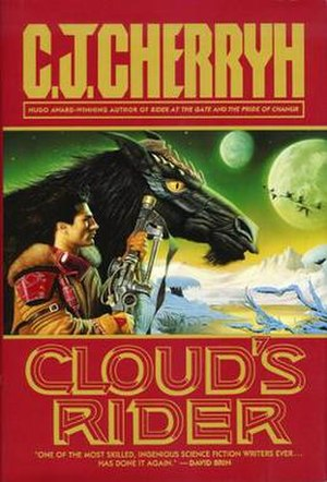Finisterre universe - Cloud's Rider (U.S. hardcover edition).  The cover artwork depicts a Nighthorse (Cloud) and his Rider (Danny Fisher).