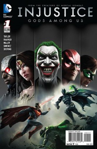 Injustice: Gods Among Us (comics) - Image: Cover of Injustice Gods Among Us volume 1 issue 1