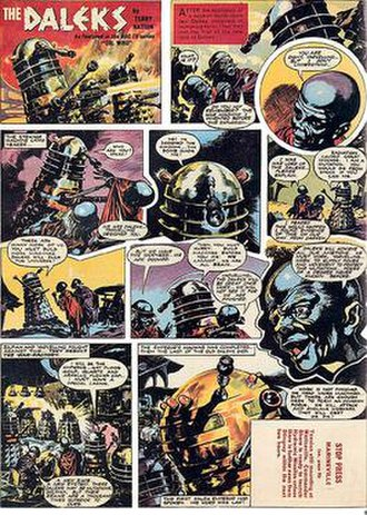 Dalek comic strips, illustrated annuals and graphic novels - TV Century 21: The Daleks comic strip