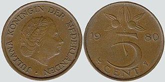 Stuiver - Image: Dutch 5 cent