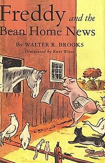 <i>Freddy and the Bean Home News</i> book by Walter R. Brooks