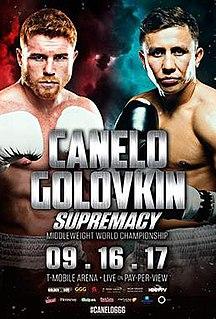 Canelo Álvarez vs. Gennady Golovkin Boxing competition