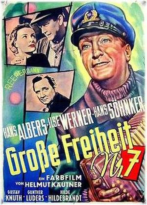 Große Freiheit Nr. 7 - postwar theatrical release poster