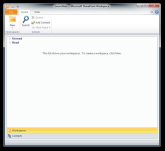 Microsoft SharePoint Workspace - Image: Groove S Shot