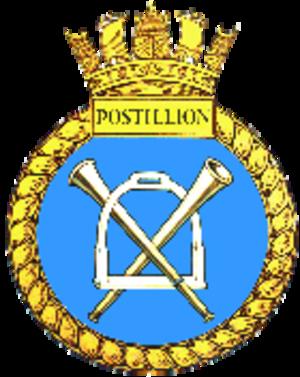 HMS Postillion (J296) - Image: HMS Postillion