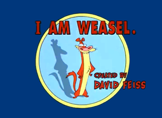 I Am Weasel - The series' title card featuring the protagonist, I.M. Weasel.