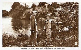 I Lost My Heart in Heidelberg (1926 film) - Werner Fuetterer and Dorothea Wieck in an advertising postcard for the film