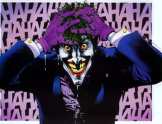 Batman: The Killing Joke - The Joker, after emerging from the canal of chemical waste