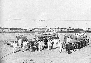 Joshua James (lifesaver) -  The station crew could haul the beach carts or the boat, but not both. Joshua James is in blue