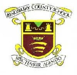 Kingsbury High School - Kingsbury County School Badge