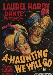 <i>A-Haunting We Will Go</i> (1942 film) 1942 film by Alfred L. Werker