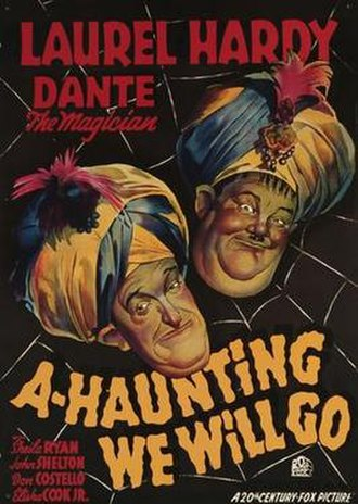 A-Haunting We Will Go (1942 film) - Theatrical release poster