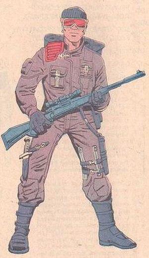Low-Light (G.I. Joe) - Illustration of Low-Light from G.I. Joe: Order of Battle. Art by Herb Trimpe.