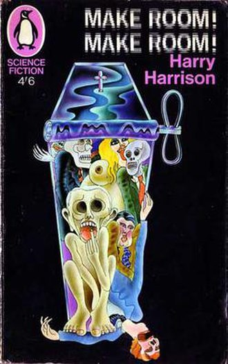Alan Aldridge - Aldridge's illustration for Make Room! Make Room! by Harry Harrison typifies his early style.