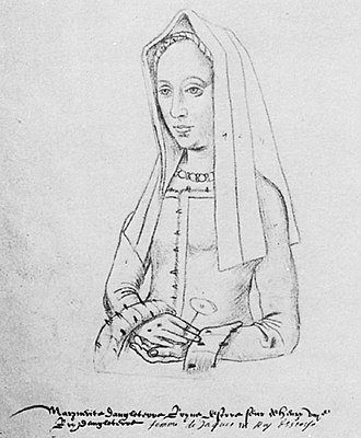 Margaret Tudor - Margaret, thought to have been drawn from life.