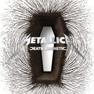 "A magnetic field around a coffin-shaped structure. Over it is the text ""Metallica – Death Magnetic""."