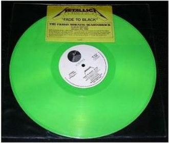 Fade to Black (song) - Image: Metallica Fade to Black cover