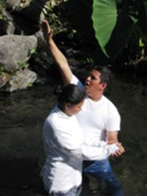 The Church of Jesus Christ (Bickertonite) - Minister baptizing in Mexico