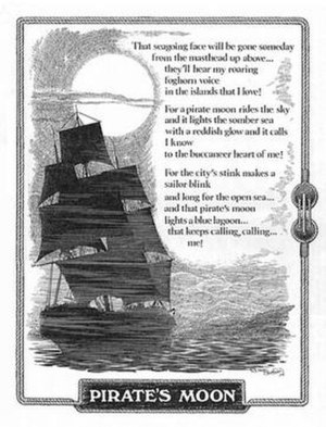 "Nick Kenny (poet) - Nick Kenny's poem, ""Pirate's Moon,"" illustrated by Richard Bassford."