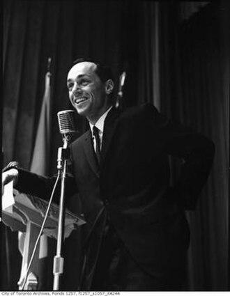 Morton Shulman - Morton Shulman giving a speech in the 1960s.