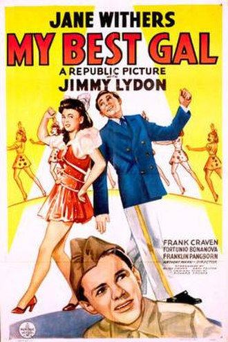 My Best Gal - Theatrical release poster