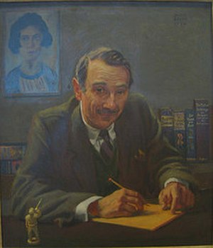 Norman Holmes Pearson - Portrait of Prof. Norman Holmes Pearson by Deane Keller.