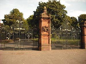 Ormeau Park - Entrance gates to the Ormeau Park, 2009