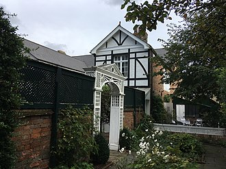 Panacea Society - The Founder's House at the Panacea Museum viewed from the garden.