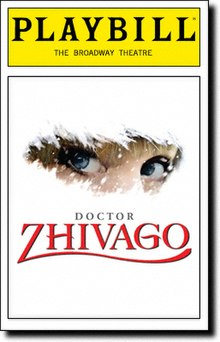 Playbill from the original Broadway production of Doctor Zhivago.jpg