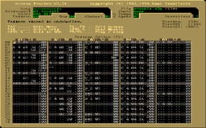Music tracker - Screenshot of Scream Tracker 3.21, a popular Tracker for the PC during the 1990s