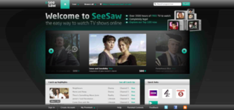 SeeSaw (Internet television) - Image: See Saw Home Page